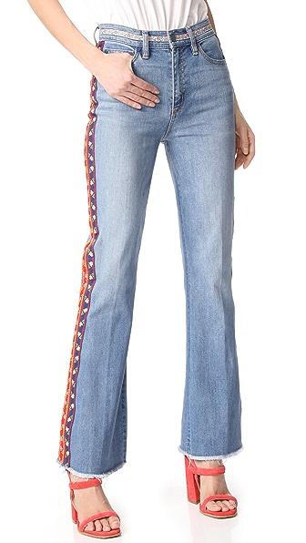 Tory Burch Расклешенные джинсы-скинни Amy