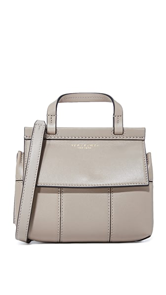 Tory Burch Block T Mini Top Handle Bag - French Gray