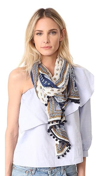 Tory Burch Комбинированный продолговатый шарф