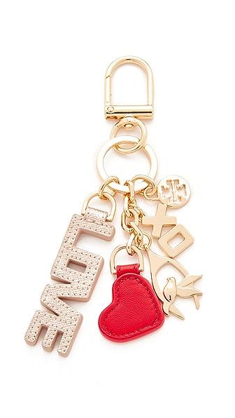 Tory Burch XO Charm Key Fob - Rose Gold