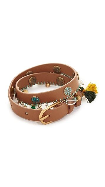 Tory Burch Tassel Double Wrap Bracelet