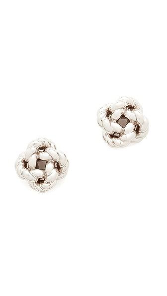 Tory Burch Rope Knot Stud Earrings