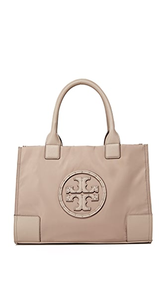 Tory Burch Stud Mini Ella Stud Logo Tote - French Gray