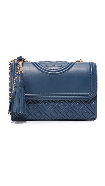 Tory Burch Fleming Small Convertible Shoulder Bag - Royal Navy