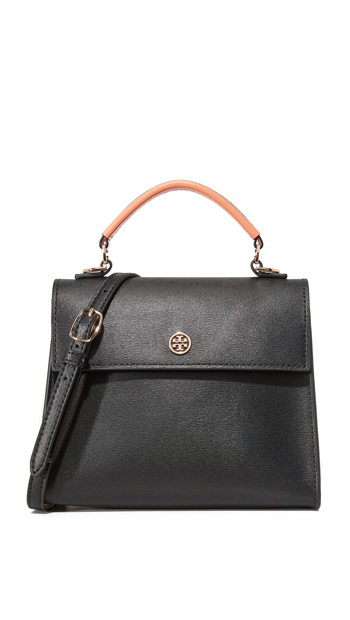 04abfc6388a0 Tory Burch Parker Colorblock Small Top Handle Satchel