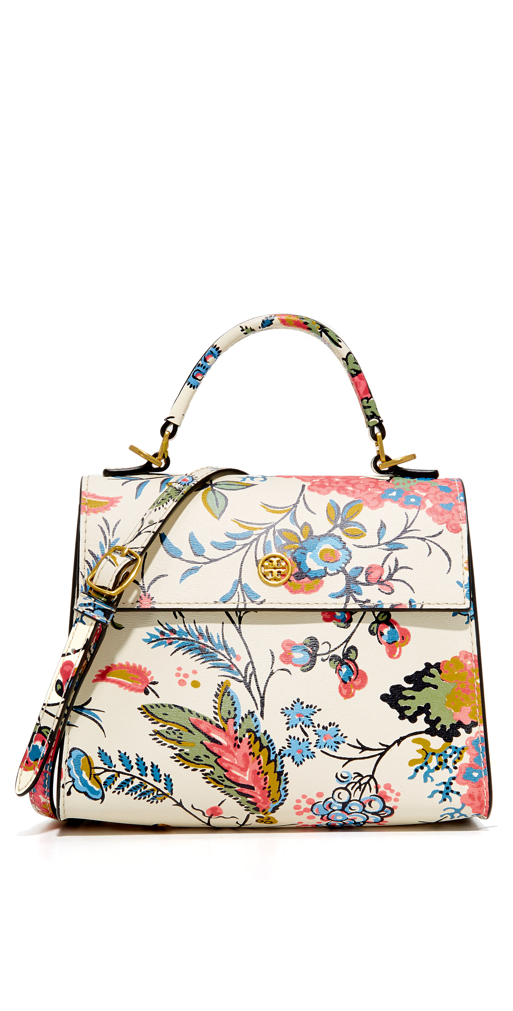 Floral Parker Small Satchel Tory Burch