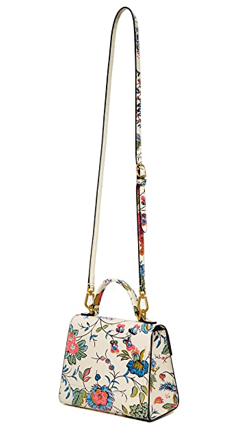 Tory Burch Floral Parker Small Satchel