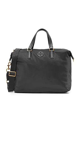 Tory Burch Scout Nylon Slouchy Satchel - Black