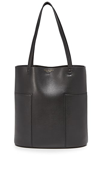 Tory Burch Block T Medium Tote - Black