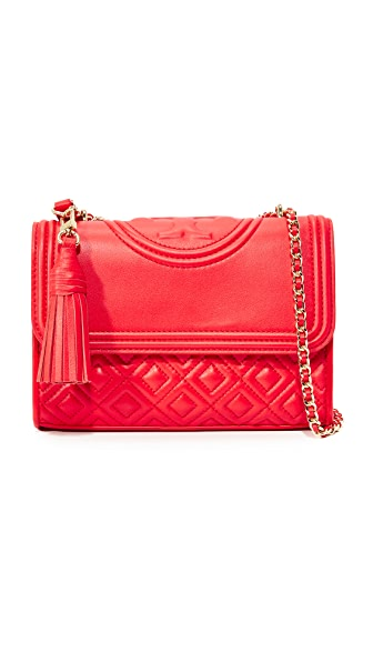 Tory Burch Fleming Small Shoulder Bag - Red Volcano