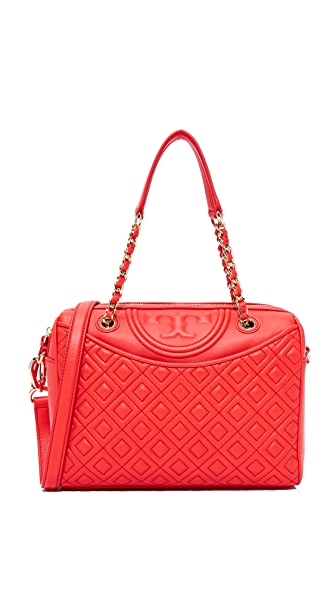 Tory Burch Fleming Duffel Bag - Red Volcano