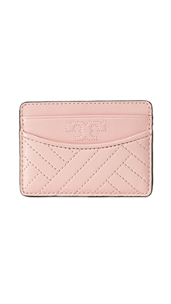 Tory Burch Alexa Slim Card Case - Pink Quartz