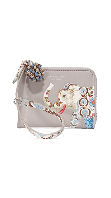 Tory Burch Elephant Mini Zip Coin Purse