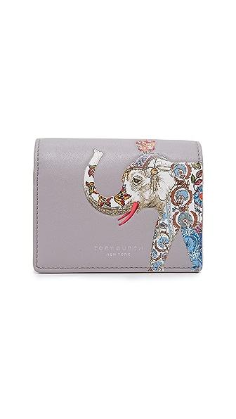 Tory Burch Elephant Foldable Mini Wallet