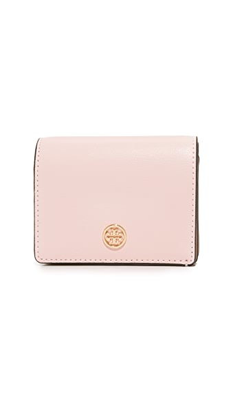 Tory Burch Parker Foldable Mini Wallet - Pink Quartz