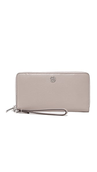 Tory Burch Parker Zip Continental Wallet - Dust Storm