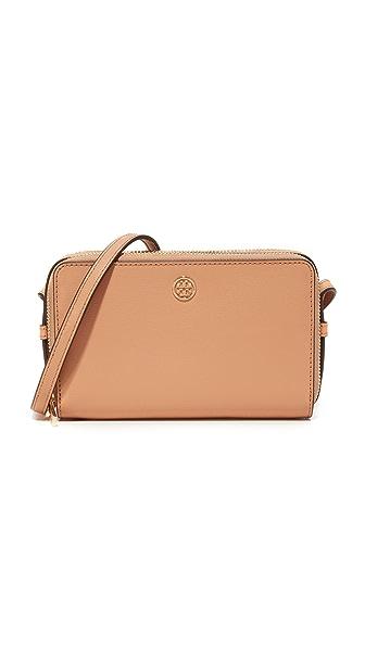 Tory Burch Parker Double Zip Mini Bag In Cardamom