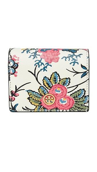 Tory Burch Parker Floral Mini Wallet - Floral