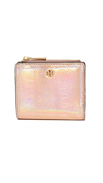 Tory Burch Robinson Metallic Mini Wallet