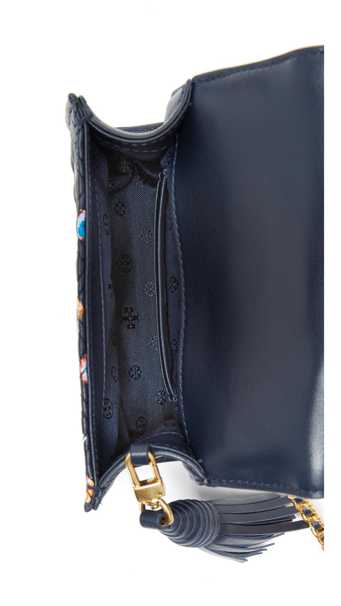 86e40dd01bb9 Tory Burch Fleming Printed Micro Cross Body Bag