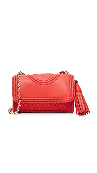 Tory Burch Fleming Micro Cross Body Bag - Red Volcano