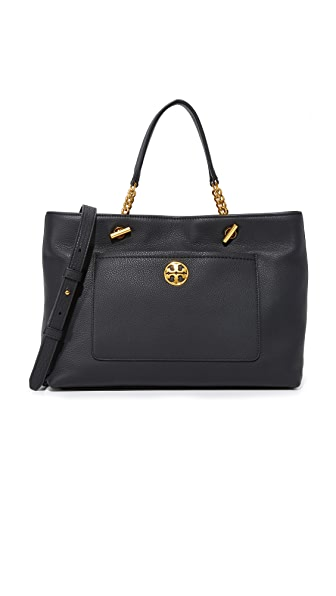 Tory Burch Chelsea Satchel - Black
