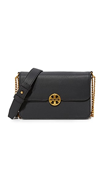Tory Burch Chelsea Convertible Shoulder Bag - Black