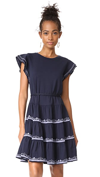 Tory Burch Caterina Dress In Tory Navy