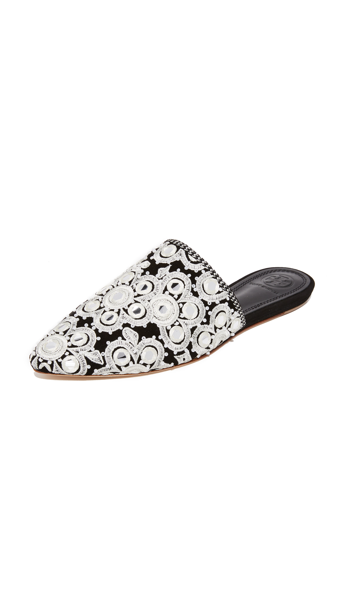 Tory Burch Elora Slides - Black/Multi