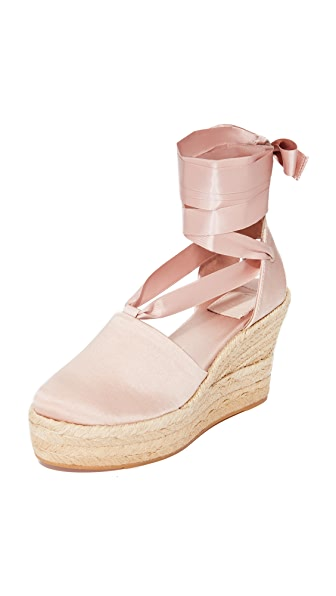 Tory Burch Elisa 90mm Wedge Espadrilles - Soy Latte