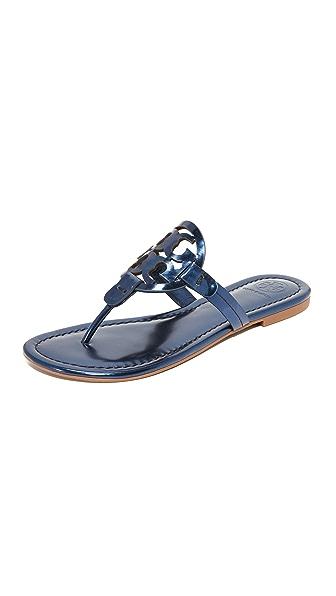 Tory Burch Miller Thong Sandals - Petroleo
