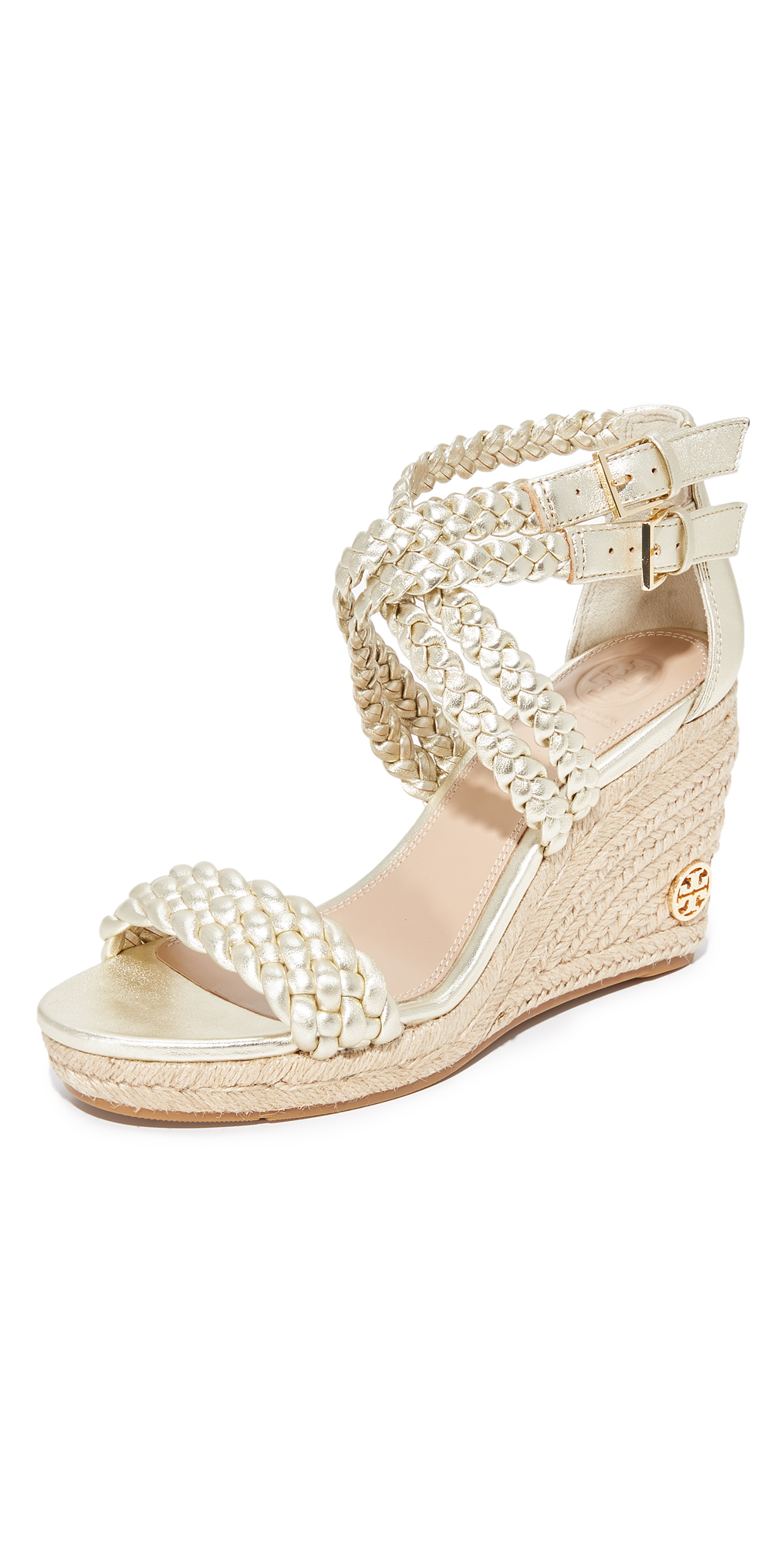 Bailey Ankle Strap Wedge Espadrilles Tory Burch