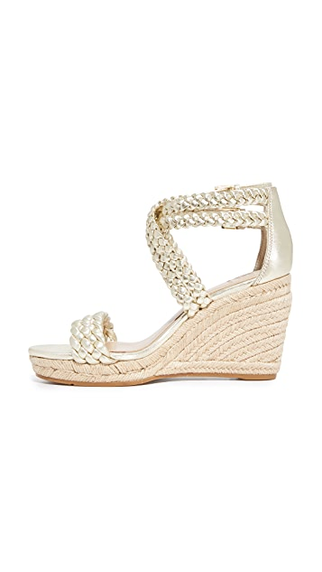 Tory Burch Bailey Ankle Strap Wedge Espadrilles