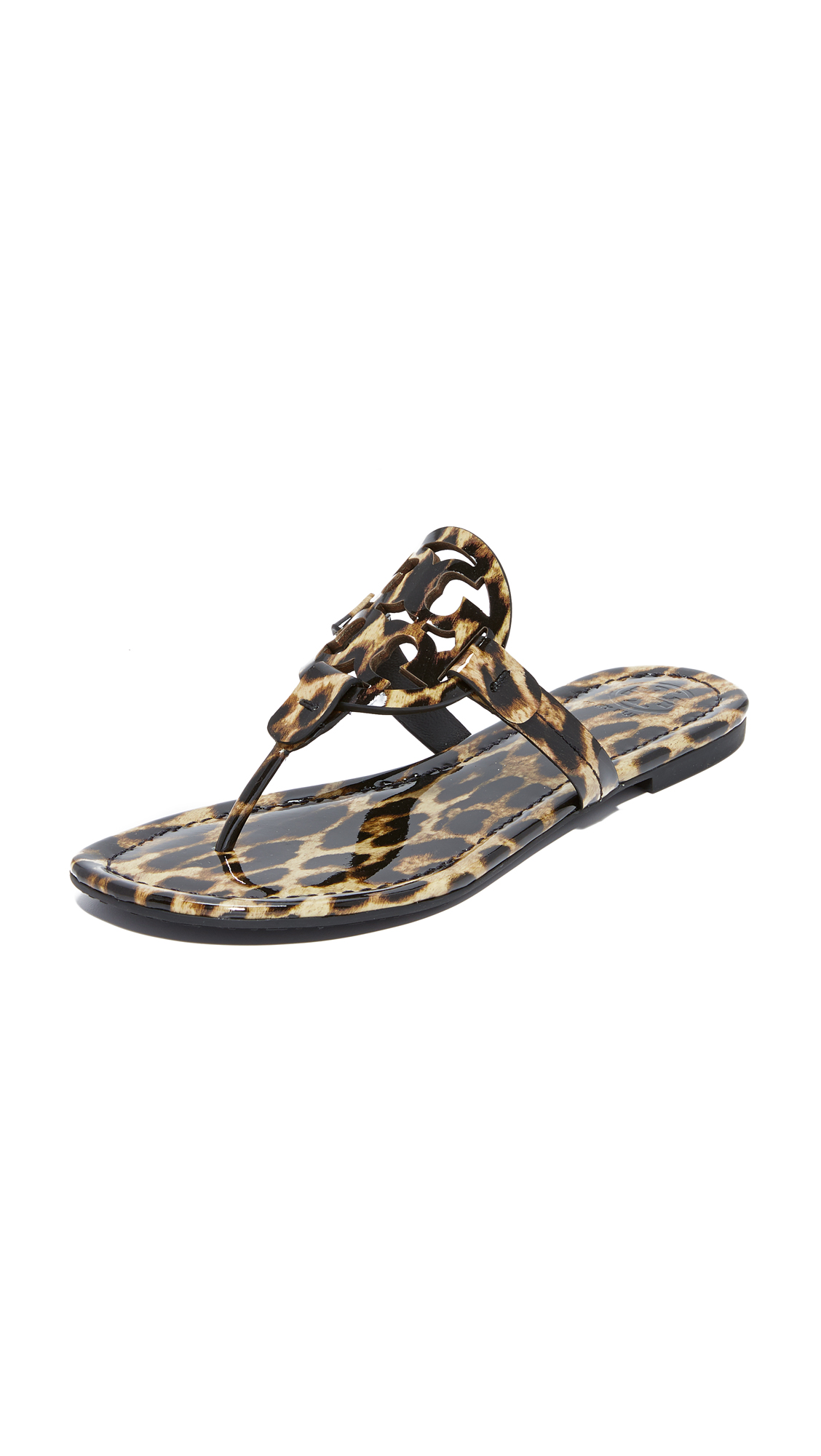 Tory Burch Miller Thong Sandals - Leopard