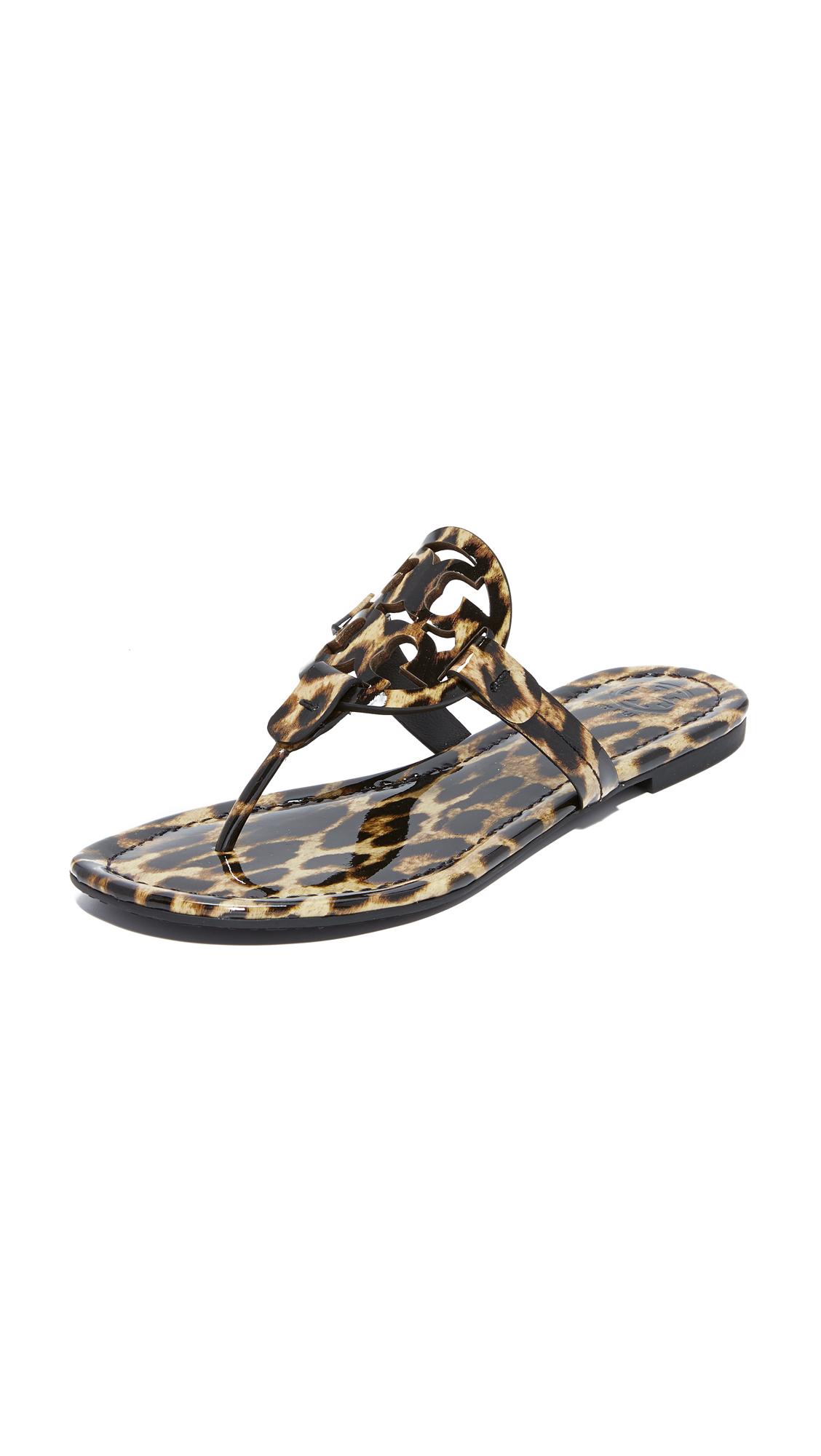 Tory Burch Miller Thong Sandals - Leopard
