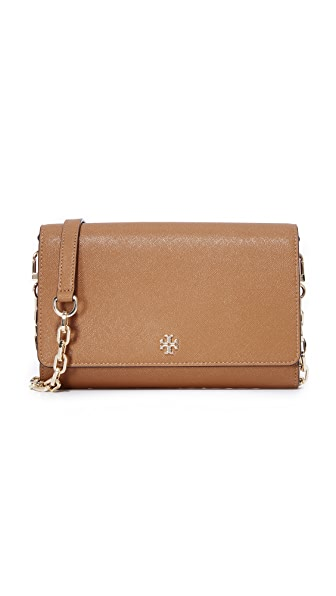 Tory Burch Robinson Chain Wallet - Tigers Eye