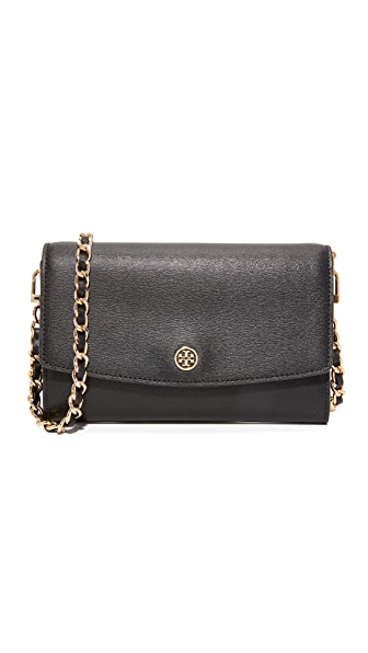 Tory Burch Parker Chain Wallet - Black