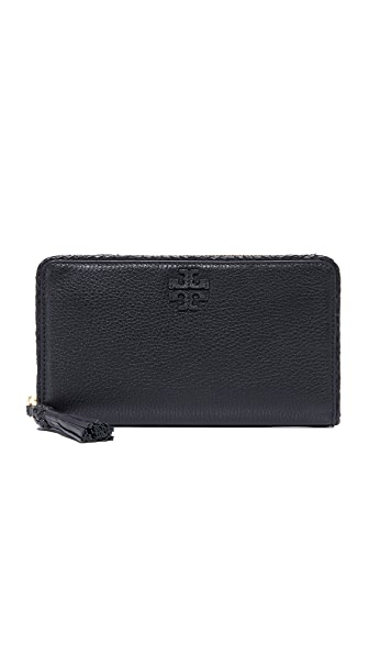 Tory Burch Taylor Zip Continental Wallet - Black