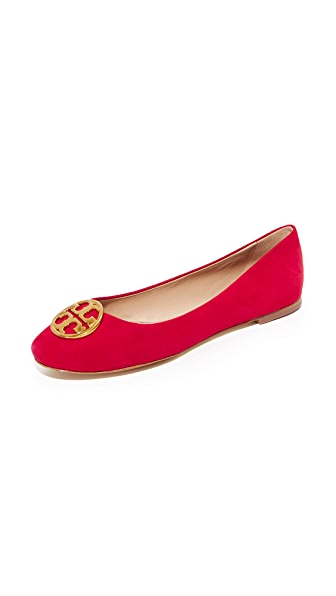 Tory Burch Chelsea Ballet Flats In Liberty Red