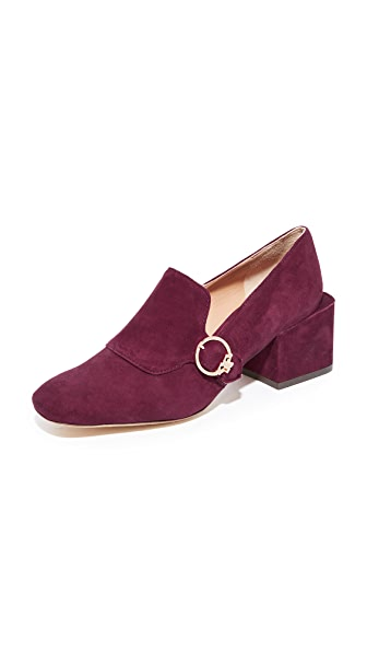 Tory Burch Tess 50mm Loafers In Port