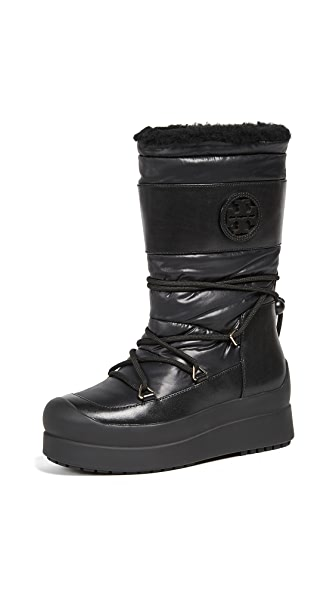 Tory Burch Cliff Snow Boots In Black/Black