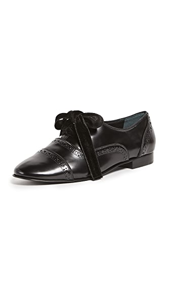 Tory Burch Haverford Lace Up Oxfords In Black/Black/Black