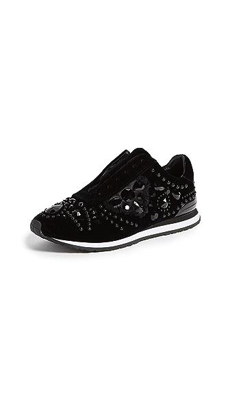Tory Burch Scarlett Runner Shoes In Black/Black
