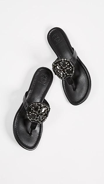 Tory Burch Miller Embellished Sandals