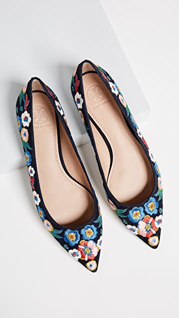 Tory Burch Rosemont Embroidered Ballet Flats
