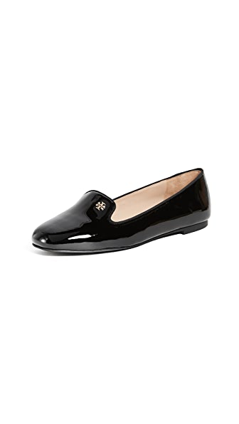 Tory Burch Samantha Smoking Slippers In Black