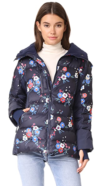 Tory Burch Justine Coat In Pansy Bouquet