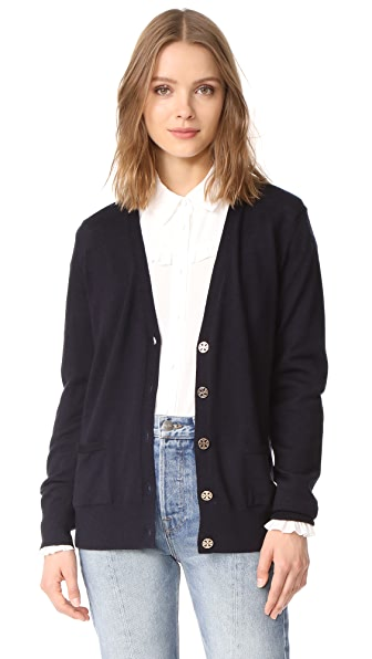 Tory Burch Madeline Cardigan - Medium Navy