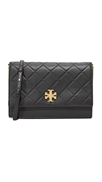 Tory Burch Georgia Convertible Cross Body Bag - Black