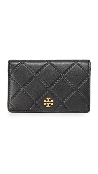 Tory Burch Georgia Slim Medium Wallet - Black